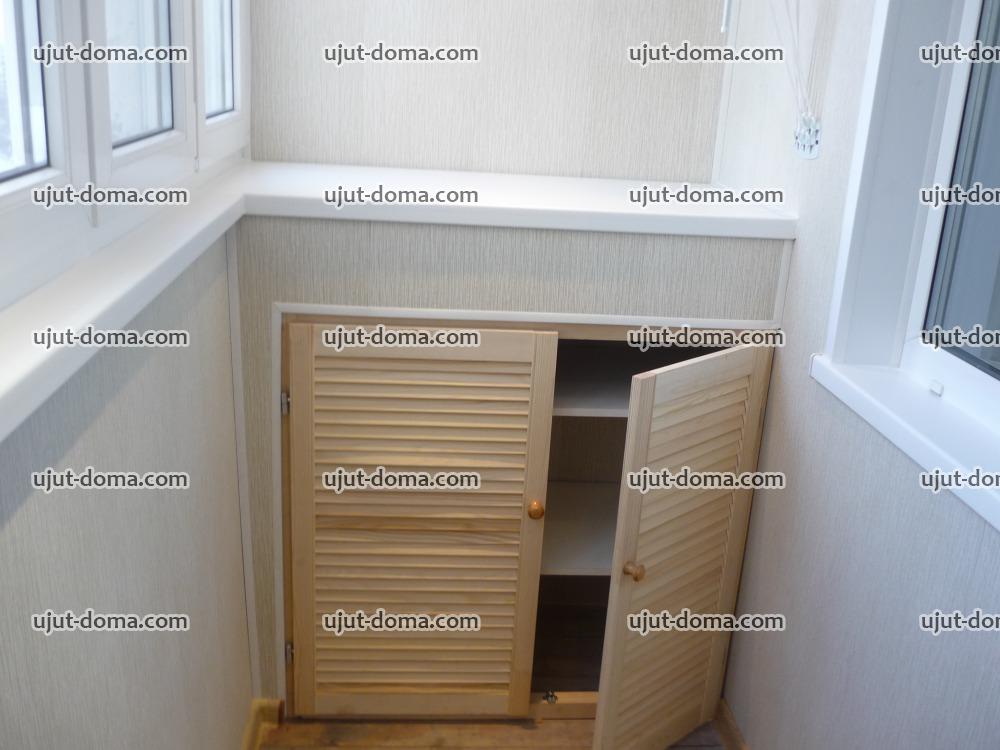 Изготовление шкафов на балкон под подоконником..